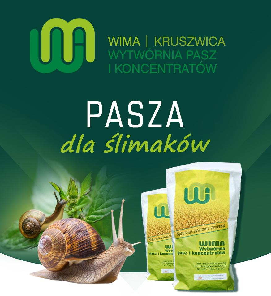 WIMA - Pasze dla ślimaków